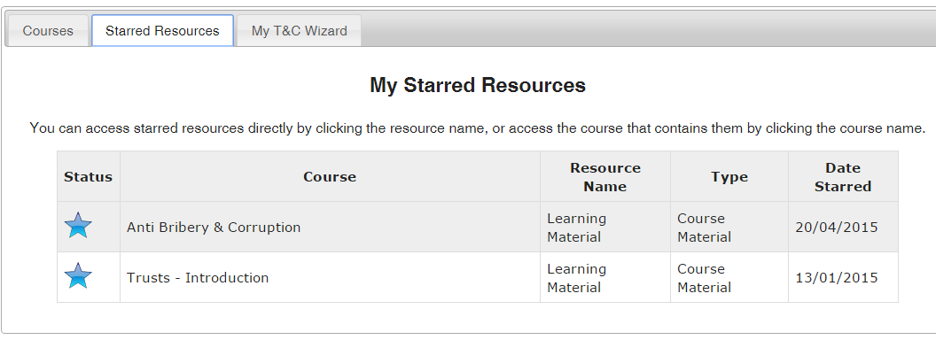 Find a course that interests you personally? Add it to your personal learning plan for completion at a later date...